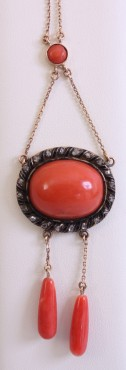 Coral Necklace | Jewelry | Coral, diamond