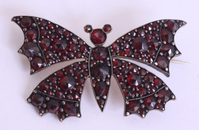 Butterfly Breastpin | Jewelry | Bohemia | Around 1890