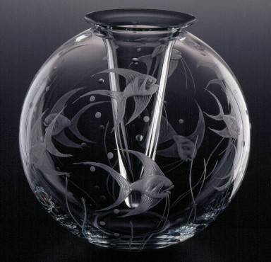 Fish L´Art Deco | vase with insert | glass