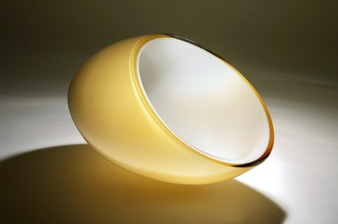RudolF Burda | YELLOW ABYSSUS | czech glass | object | 2012